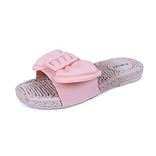 Queena Wheeler Women Sandals Women Flats Shoes Platform Female Slides Beach Flip Flops Summer Shoe Pink