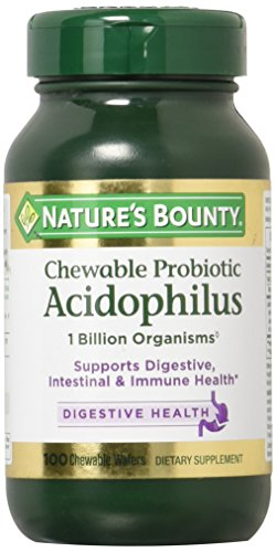 - Nature's Bounty Acidophilus Chewable Wafers, Natural Strawberry