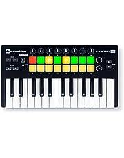 Novation Launch Control portátil USB MIDI Contoller con 16pomos y ocho Pads4, 25 llaves