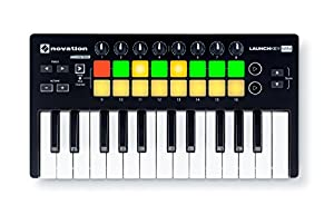 Launchkey Mini (MK2) is Novation's most compact and portable MIDI keyboard controller. It may be small, but it gives you everything you need to create new tunes in Ableton Live without cluttering up your desk. Launchkey Mini has been designed to make...