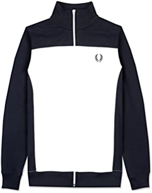 Men's Embroidered Track Jacket Navy
