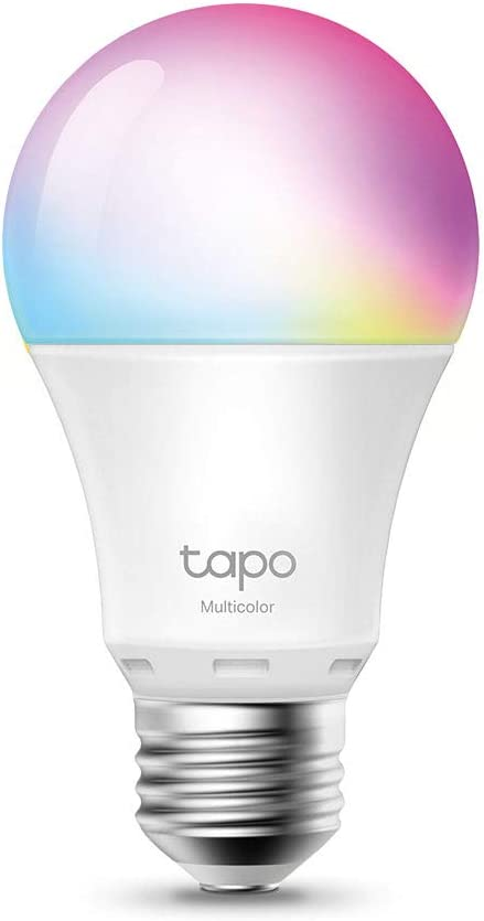 【Nuevo】 TP-Link - Bombilla LED Inteligente, Bombilla WiFi, Multicolor, Regulable, E27, 8.7W 806lm, Compatible Alexa, Echo y Google Home, [Clase de eficiencia energética A+] (Tapo L530E)
