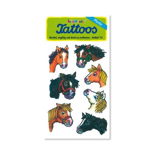 Pferde / Ponys / Pferdeköpfe Tattoos von Lutz Mauder // Kinder Kindertattoo Tatoo Tatto Kindergeburtstag Geburtstag Mitgebsel Geschenk