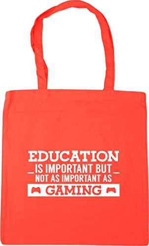 but HippoWarehouse Shopping Coral as as gaming Bag Beach 10 x38cm not is litres important Gym Tote Education 42cm important qtWvwUtH1B