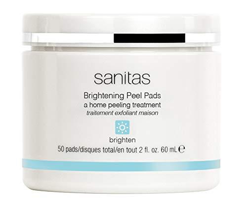 Sanitas Skincare Brightening Peel Pads, Home Peeling Treatment, 50 pads / 2 Ounces by Sanitas