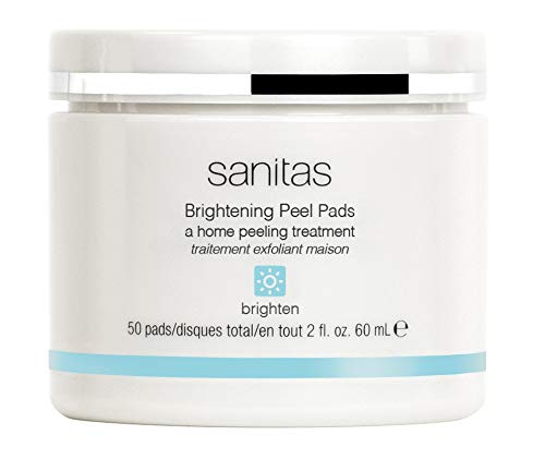 Sanitas Skincare Brightening Peel Pads, Home Peeling Treatment, 50 pads / 2 fl oz / 60 ml