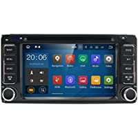 Quad Core Android 7.1 2 Din In Dash HD 1024600 Capacitive Touch Screen Car DVD Player GPS Navigation AM FM Radio for Toyota RAV4 Corolla Camry Tundra 4Runner Previa Highlander Yaris Prado Hilux