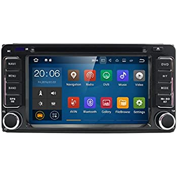 Quad Core Android 7.1 2 Din in Dash HD 1024600 Capacitive Touch Screen Car DVD Player GPS Navigation AM FM Radio Toyota RAV4 Corolla Camry Tundra 4Runner ...