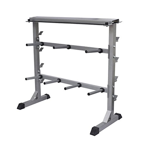 Dumbell Barbell Rack Home Gym 2-Shelf Weight Plate Bar Rack Stand Holder by  sc 1 st  Strongman Pictures & Dumbell Barbell Rack Home Gym 2-Shelf Weight Plate Bar Rack Stand ...