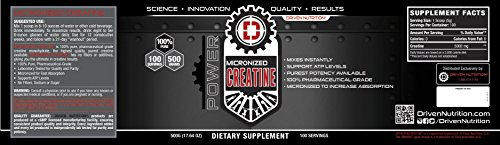 Driven Nutrition-Micronized Creatine (500gm)
