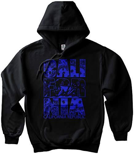 Black Cali for Nia Hoodie California 13 Blue Bandana LA Crip Sweatshirt Pullover, 2X - XXL - 2XL ()
