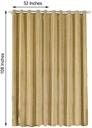 BalsaCircle 52 x 108-Inch Champagne Soft Velvet Blackout Window Drapes Curtains 2 Panels with Grommet Top – Home Decor Party Decor