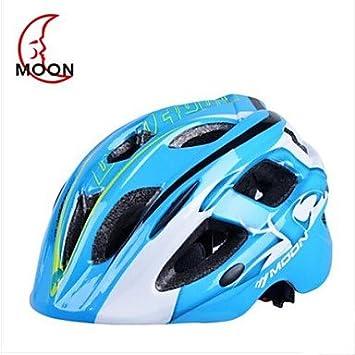 hnh 17 orificios de ventilación EPS + PC azules Integral geformten bicicleta casco Luna infantil (