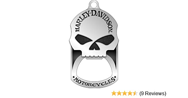 Harley-Davidson Willie G. Skull Bottle Opener Dog Tag Necklace/KeyChain 8002749