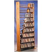 9 Row Dowel CD Rack (Honey Oak)