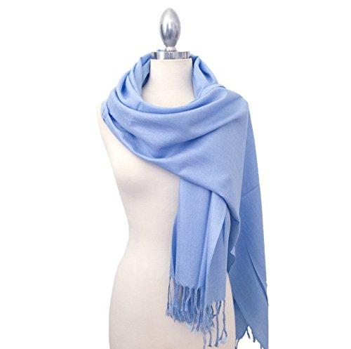 califul-large-solid-colors-soft-pashmina-scarf-shawl-wrap-throw-100-acrylic-sky-blue