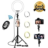 Selfie Ring Light with Tripod Stand & Cell Phone Holder - 8