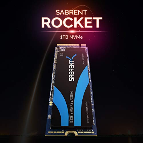 Sabrent 1TB Rocket NVMe PCIe M.2 2280 Internal SSD High Performance Solid State Drive (SB-ROCKET-1TB)