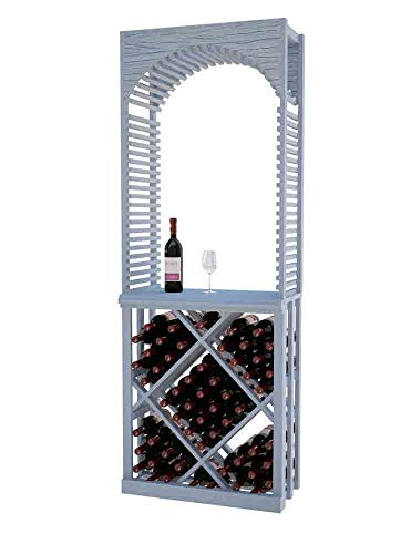 Designer Series Wine Rack - Tasting Center with Open Diamond Bin - 6 Ft - Pine Graywash Stain - No ()