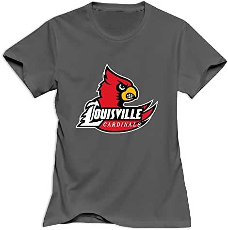Red Casual Louisville Cardinals T-shirts For Girlfriend