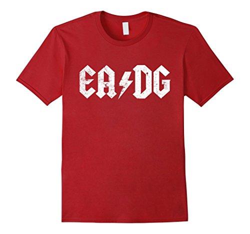 D&g Mens Clothing (Mens Bass Player T shirt E A D G Strings of the Bass Medium Cranberry)