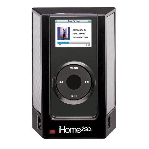 Ipod Nano Charging Dock (iHome iHM1 Portable Speaker System for iPod nano 1G (Black))