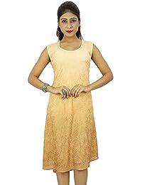 Women Casual Dress Embroidered Rayon Beach Summer Sundress