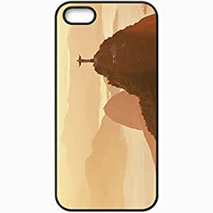 Protective Case Back Cover For iPhone 5 5S Case Brazil Rio Monument Black
