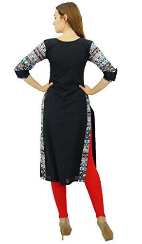 Casual Phagun Kurti Ethnique Indian Noir Femmes Kurta Coton Designer Tunique Ixwq6gvOx
