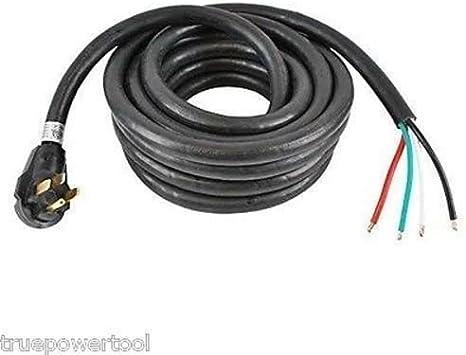 15/' 50A Generator Power Cord RV Camp 6//3 8//1 AWG NEMA 14-50P to Bare Wire