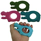 MAXSOINS Hippo Hand Grip Strengthener Exercisers Set of 3 with Increased Resistances Perfect for Increasing Hand, Finger, Wrist, and Forearm Strength,Couple paragraph grip, Valentine's Day gift Review