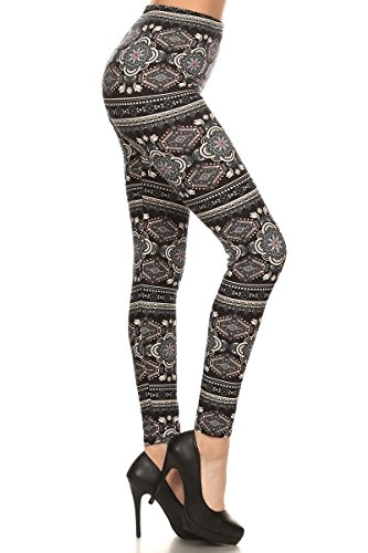 Conceited Super Soft High Waisted Printed Leggings for Women - Casino Royale - One Size (0-12) -