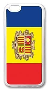 ACESR Andorra Flag Lastest iPhone 6 plus 5.5 Cases, pc hard Case for Apple iPhone 6 plus 5.5 white