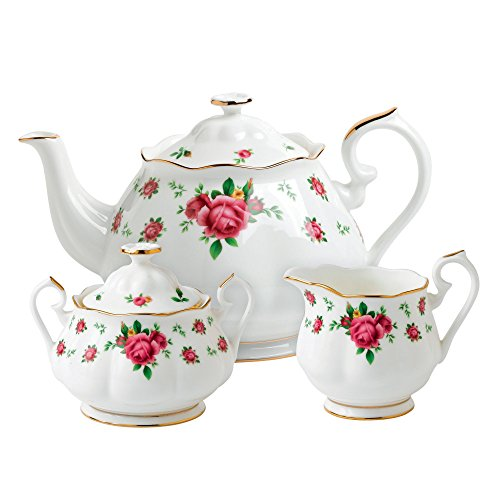 Royal Albert New Country Roses White Teaset, 3-Piece ()