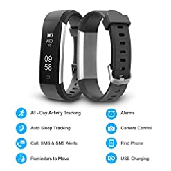 Letsfit Fitness Tracker, IP67 Waterproof Activity Tracker with Pedometer Step Counter Watch and Sleep Monitor Calorie… top rated [tag]