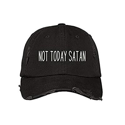 Prfcto Lifestyle Not Today Satan Distressed Baseball Cap- Unisex Dad Hat