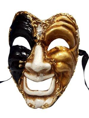 Authentic Happy Face Theatre Volto Full Face Masquerade Venetian Mask ()