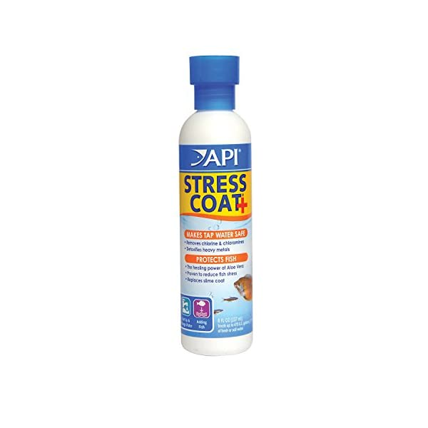 API Stress Coat Water Conditioner, Makes tap Water Safe, Replaces fish's Protective Coat Damaged by handling or Fish Fighting, Use When Adding or Changing Water, Adding Fish and When Fish are Injured 1