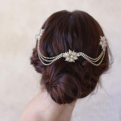 Bride Wedding Flower Hair Comb