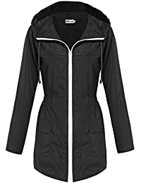 HOTOUCH Womens Lightweight Hooded Raincoat Active Outdoor...