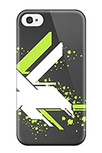 4/4s Scratch-proof Protection Case Cover For Iphone/ Hot White Eagle Eable Green Line Dark Grey Phone Case