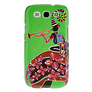 LIMME-Piping Lady Pattern Protective Hard Back Cover Case for Samsung Galaxy S3 I9300