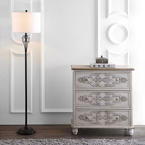 Safavieh FLL4040A Lighting Collection Tarri Antique Brass Floor Lamp,