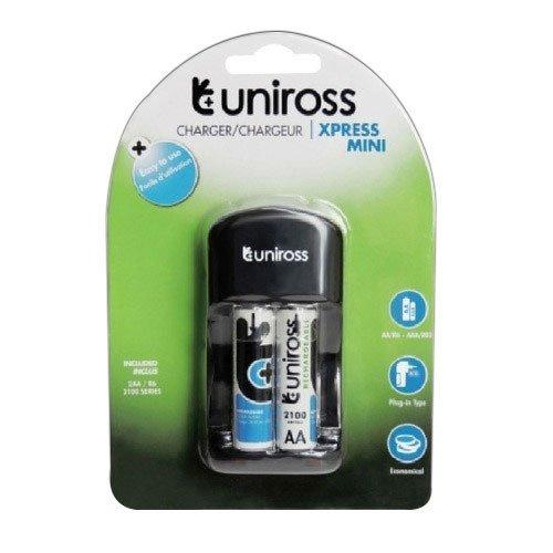 Uniross 2100mah 2nos battery + U Xpress Mini Charger Camera Batteries