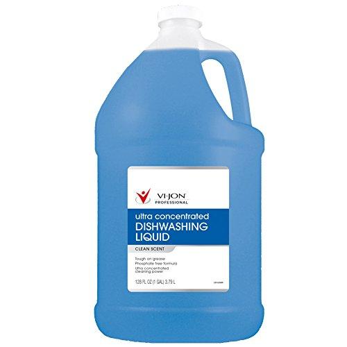 Vi-Jon Professional 1000044028 Deep Clean Dishwashing Liquid, 1 gal, 11.07'' Height, 5.75'' Length (Pack of 4)