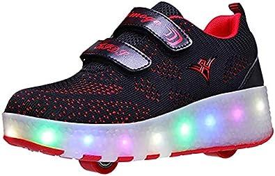 Led Luces Zapatos con Ruedas para Pequeños Niño y Niña Automática Calzado de Skateboarding Deportes de Exterior Patines en Línea Brillante Mutilsport Aire Libre y Deporte Gimnasia Running Zapatillas: Amazon.es: Zapatos y