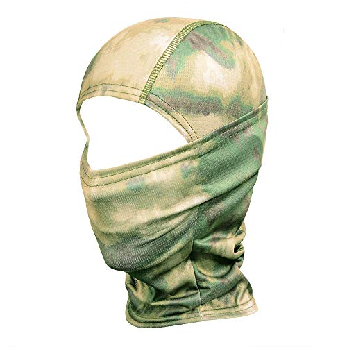 03 Paint Protection - WTACTFUL Camouflage Balaclava Hood Ninja Outdoor Cycling Motorcycle Motorbike Hunting Military Tactical Airsoft Paintball Helmet Liner Gear Wind Dust Sun UV Protection Breathable Full Face Mask SR-03