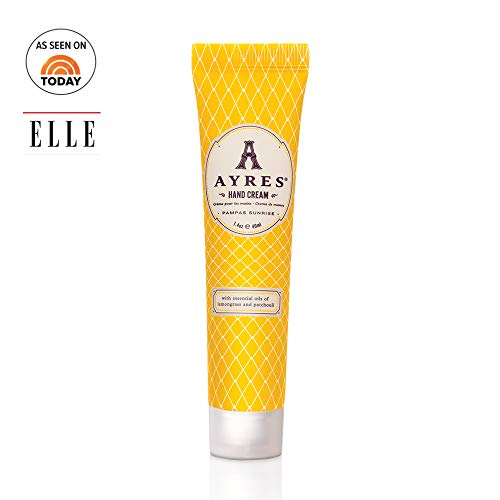 AYRES Pampas Sunrise Nourishing Hand Cream 1.4 oz. (40 ml) | Enriched with Shea Butter & Coconut Oil | Formulated with Glycerin for Dry Hands, Rough Hands | Fast-Absorbing | Non-Greasy | Vegan ()
