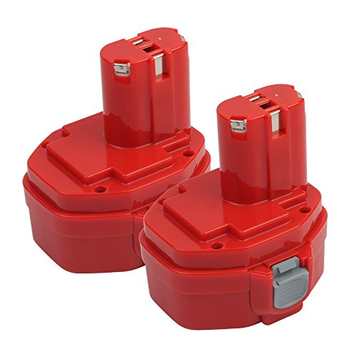 1400 Tools (2.0Ah 1420 Replacement Battery for Makita 1422 1400 PA14 192600-1 194172-2 193062-6 193987-4 638350-9-2 193985-8 Cordless Power Tools (14.4V, Ni-CD, 2 Pack))