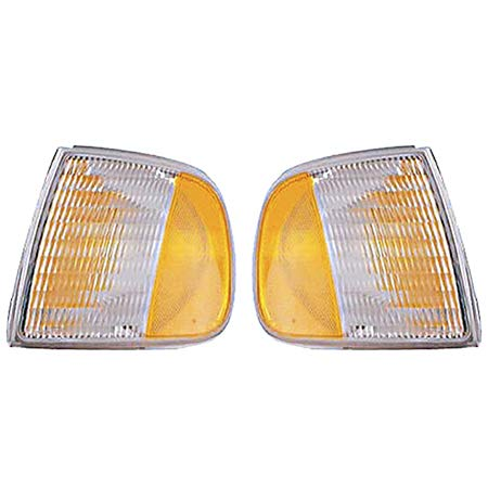 CarLights360: Fits 1997-2003 Ford F-150 Turn Signal/Parking Light Assembly Driver and Passenger Side NSF Certified - Replaces FO2550118 FO2551118 (Vehicle Trim: From 06/1996)